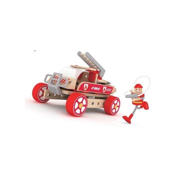 Дървен конструктор - Пожарникарска кола